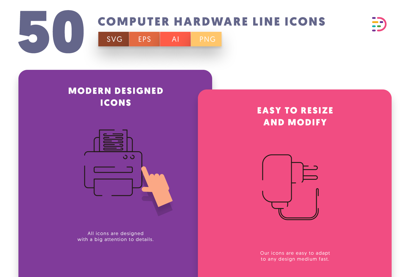Computer Hardware Line icons png/svg/eps