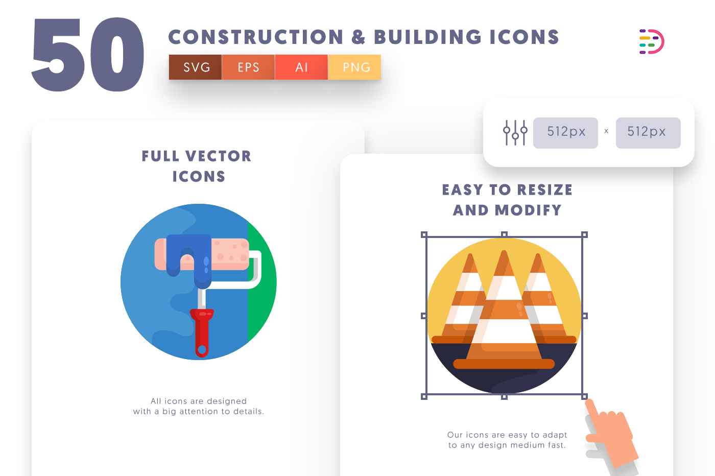 Full vector 50Construction&Building Icons
