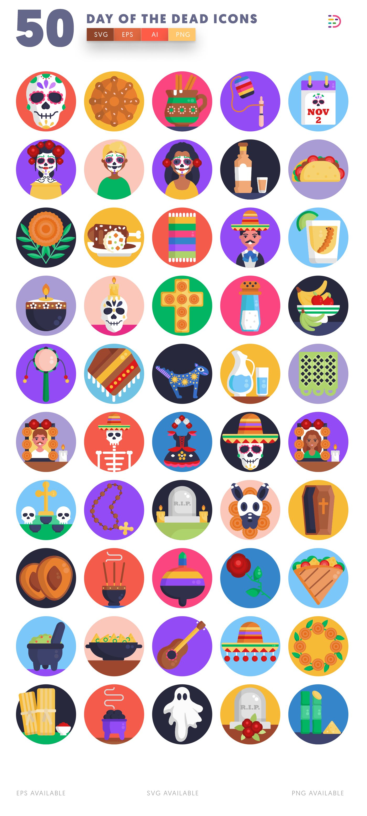 Day of the Dead icon pack