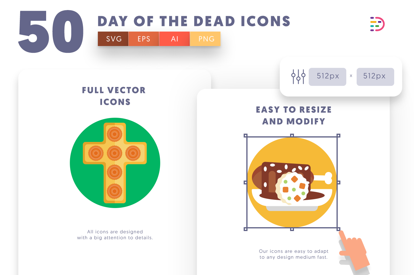 Full vector 50DayoftheDead Icons