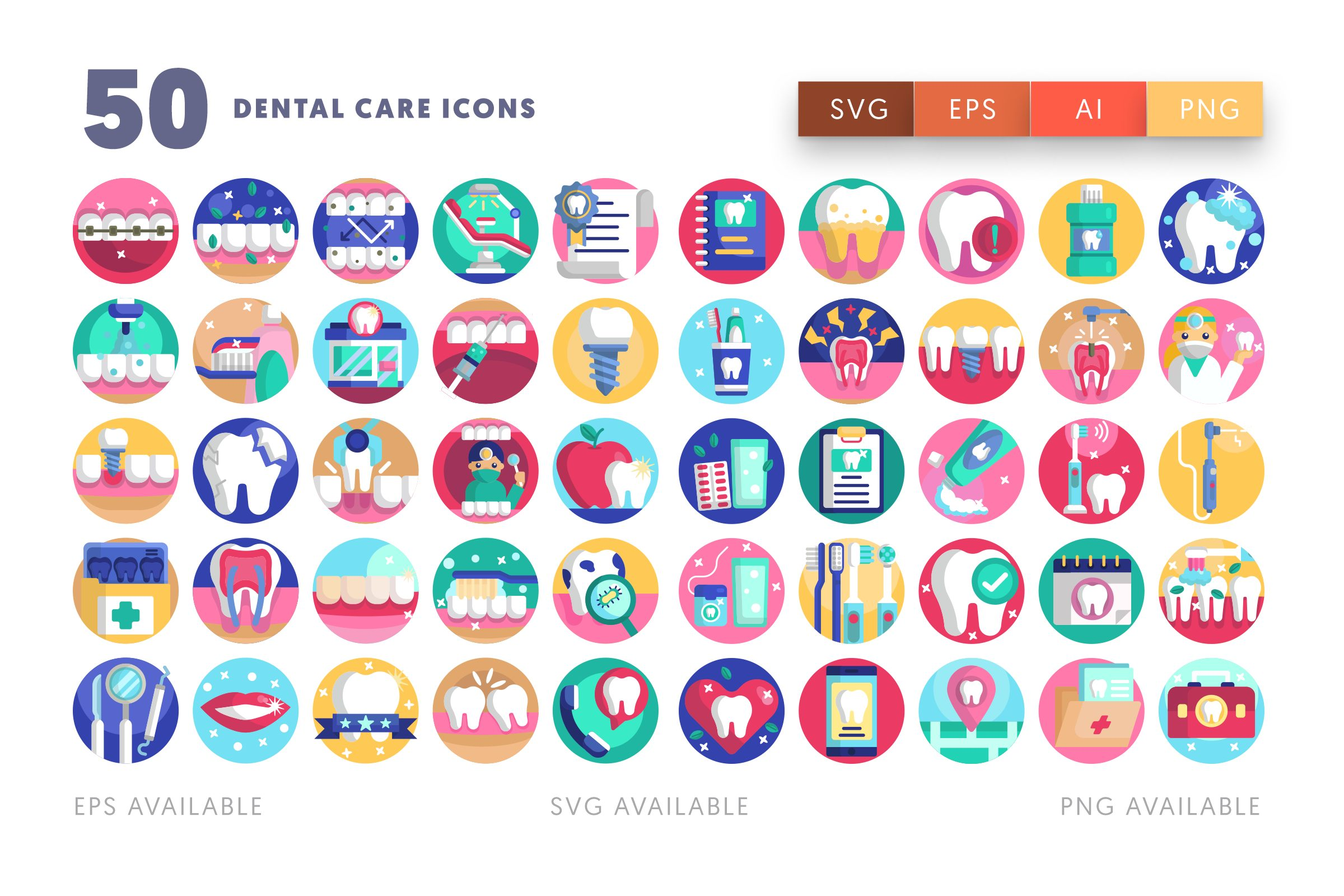 Dental Care icons png/svg/eps