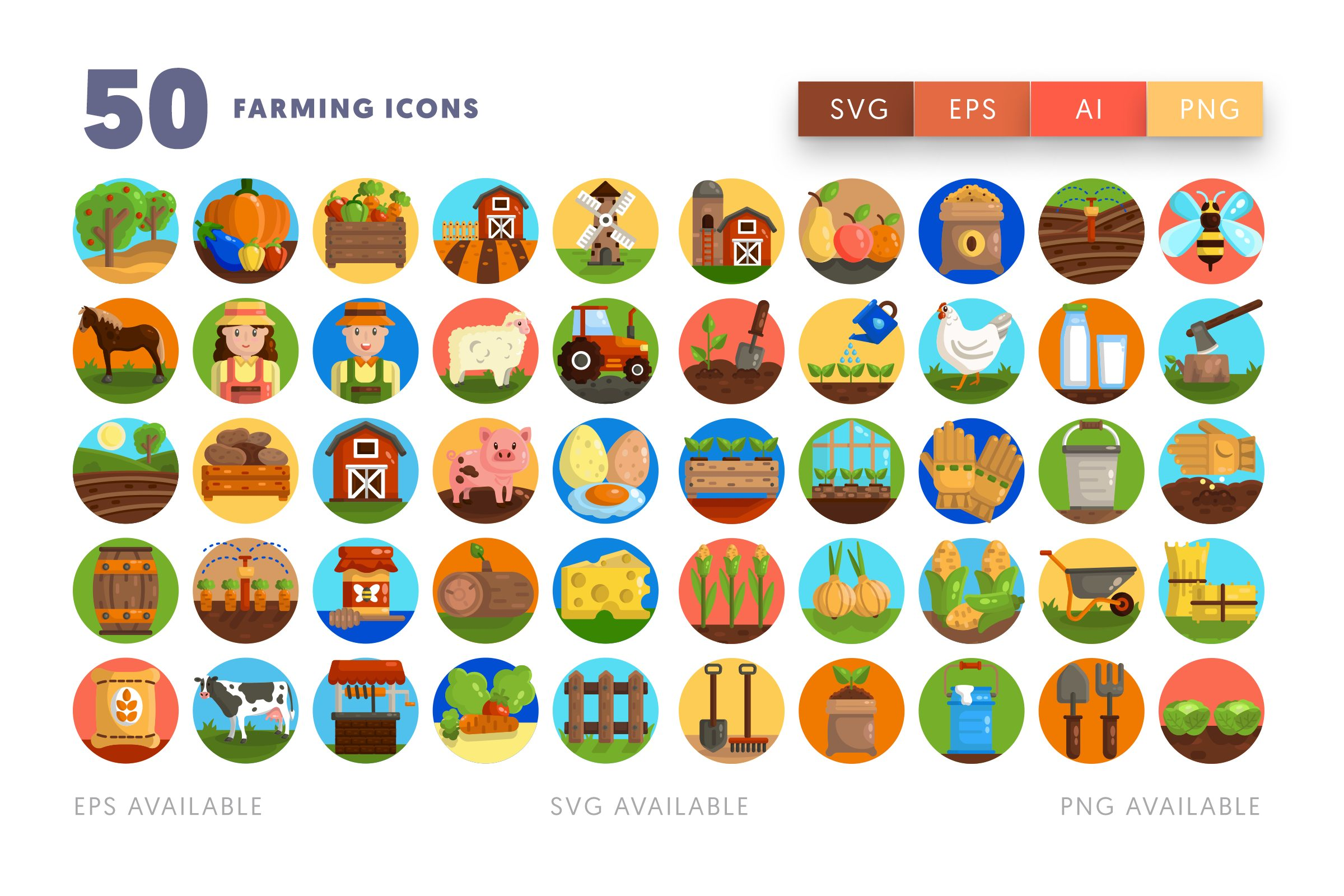 Farming icons png/svg/eps