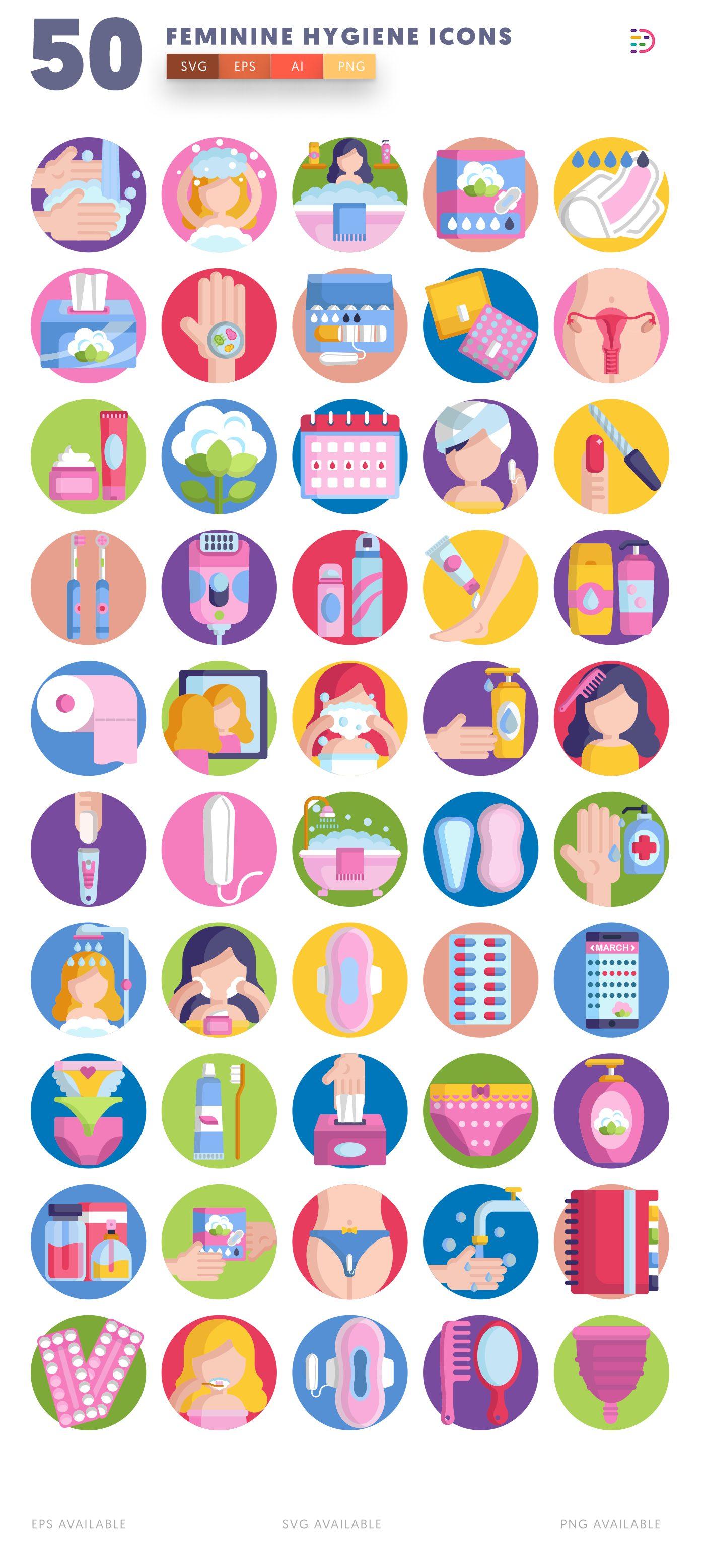 Feminine Hygiene icon pack