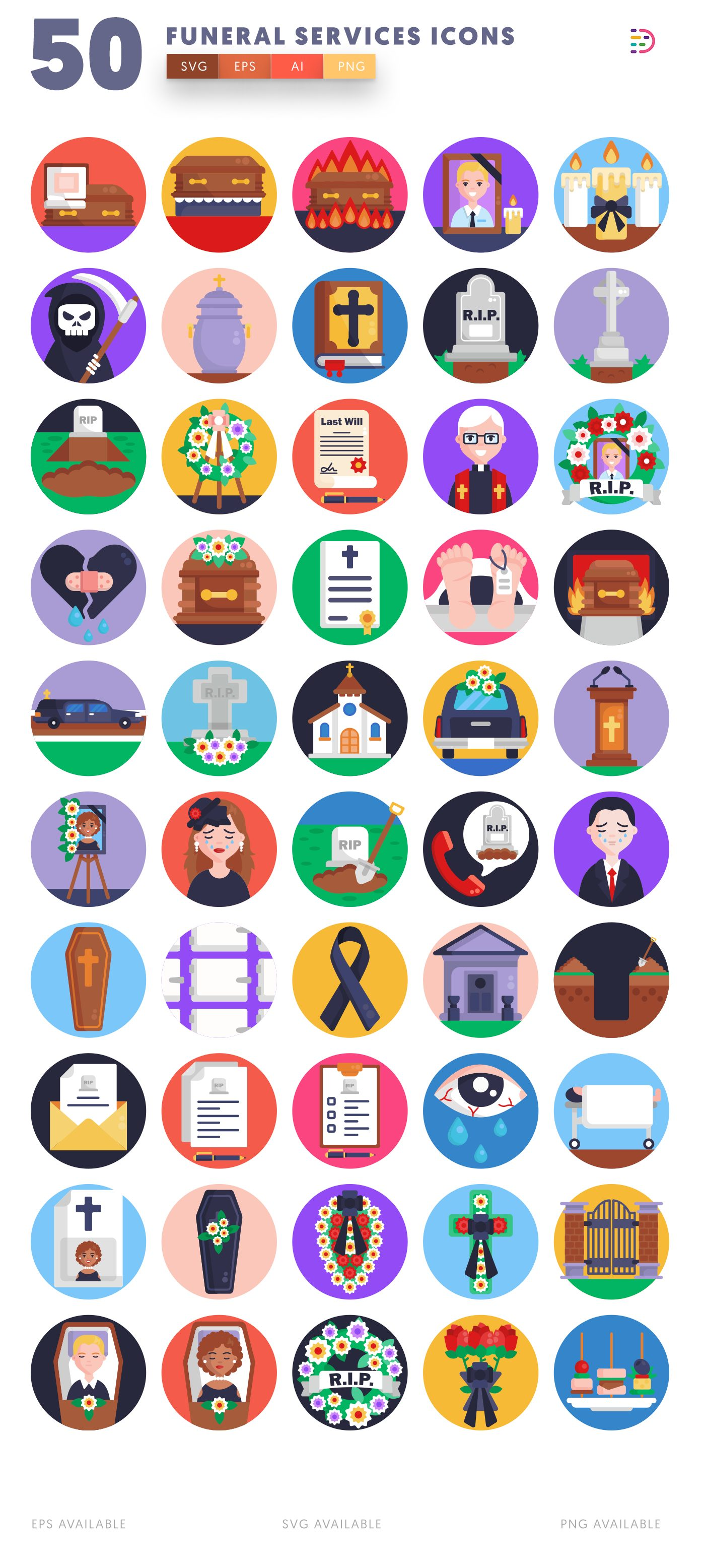 Funeral Services icon pack
