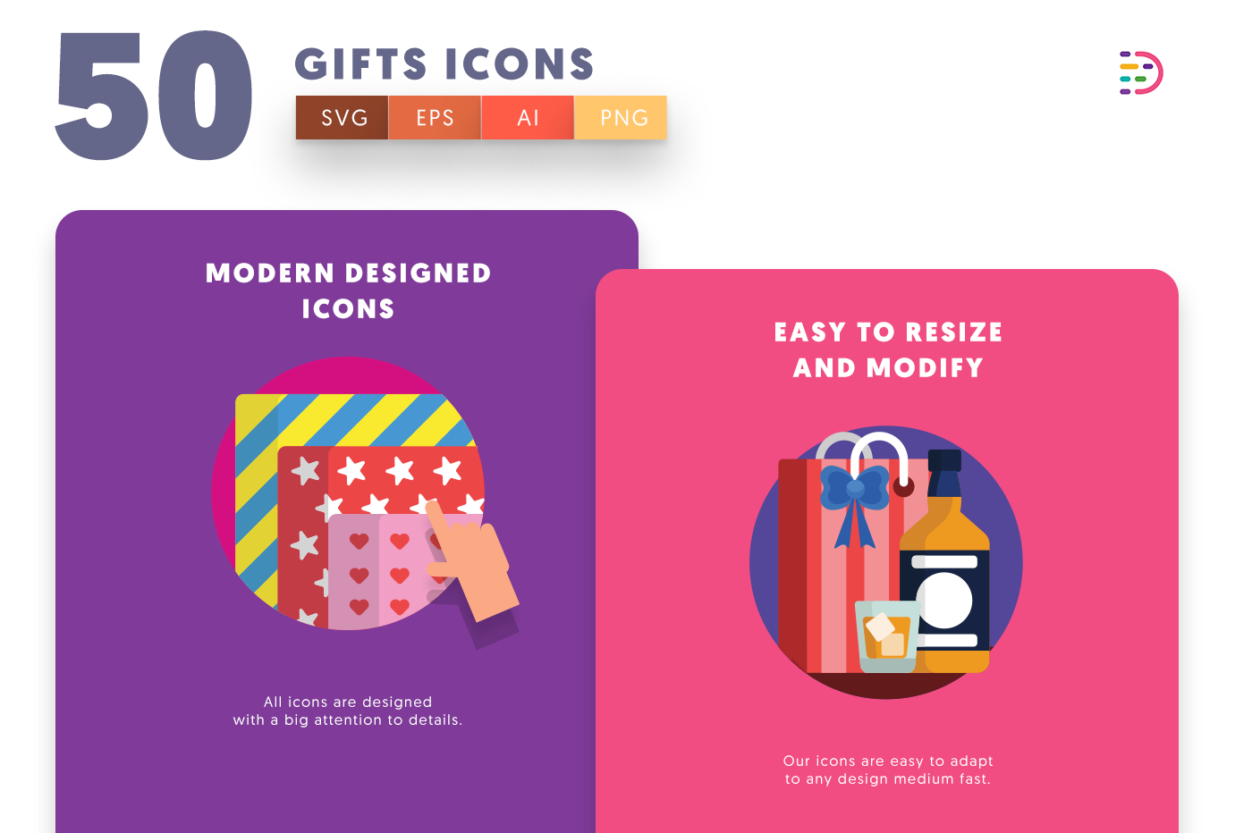 Gifts icons png/svg/eps