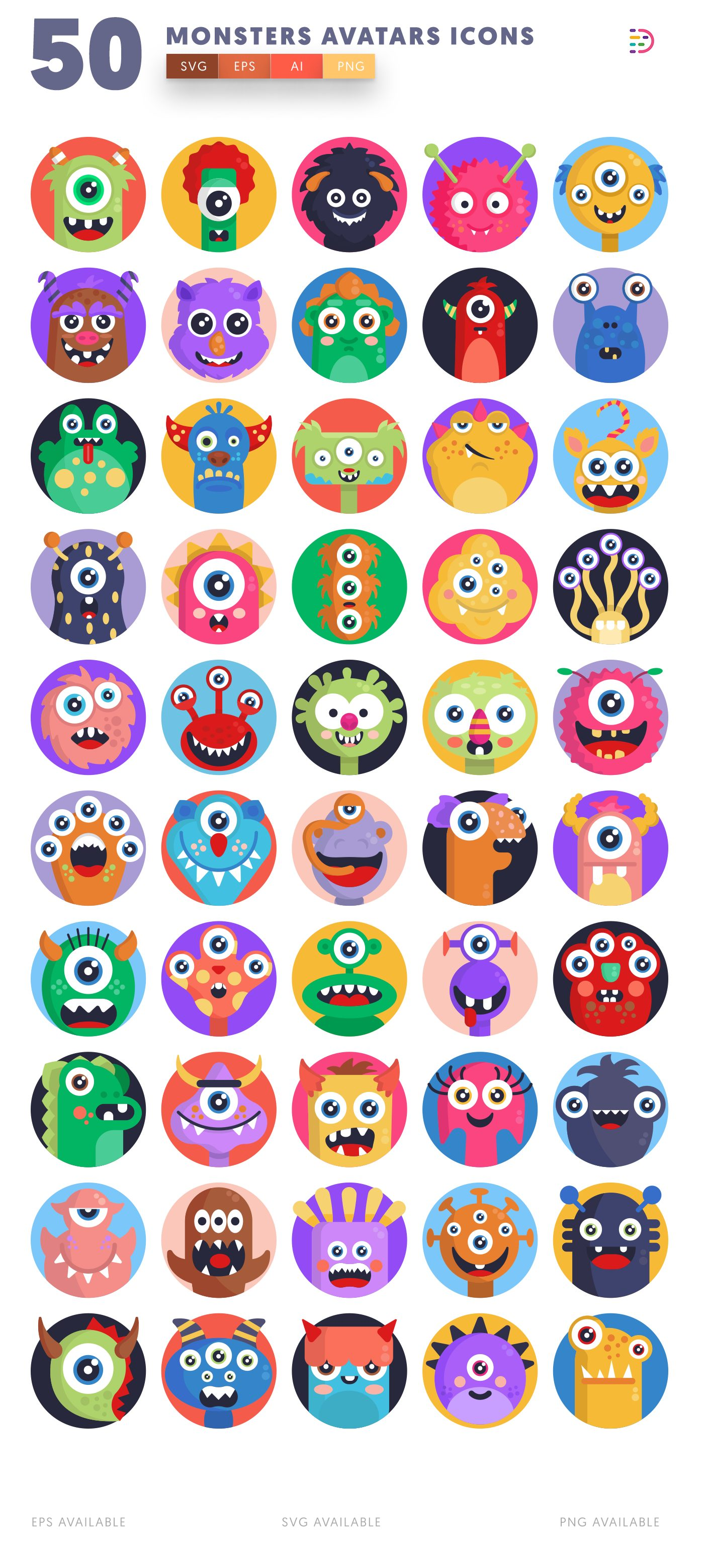 Monsters Avatars icon pack