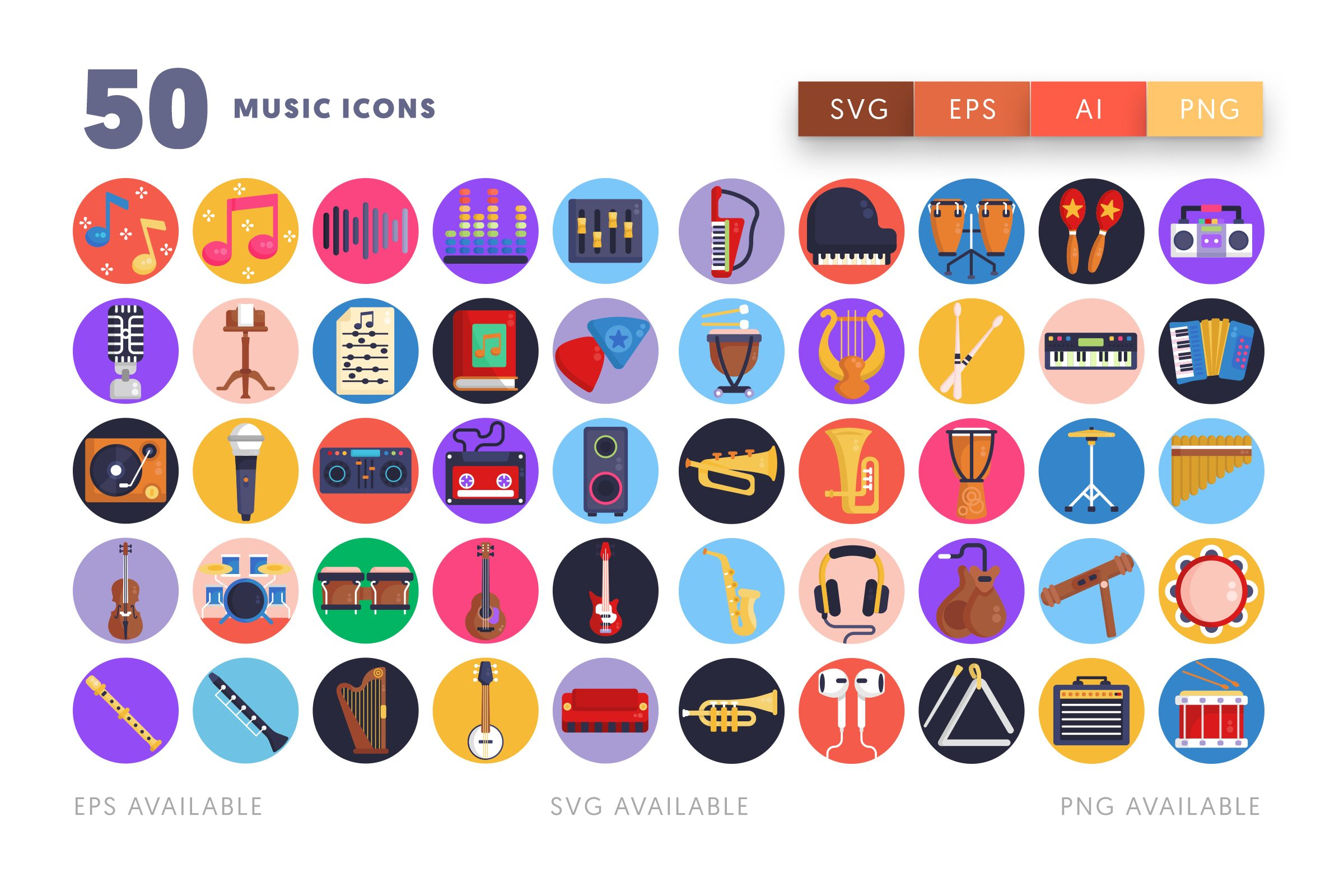 Music icons png/svg/eps