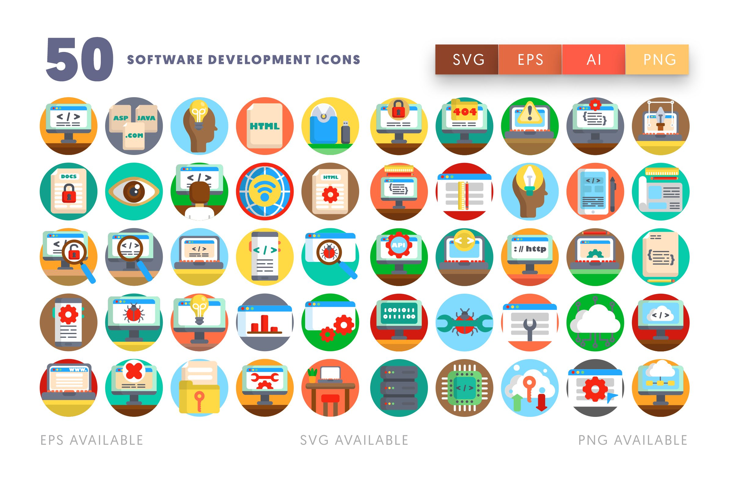 Software Development icons png/svg/eps
