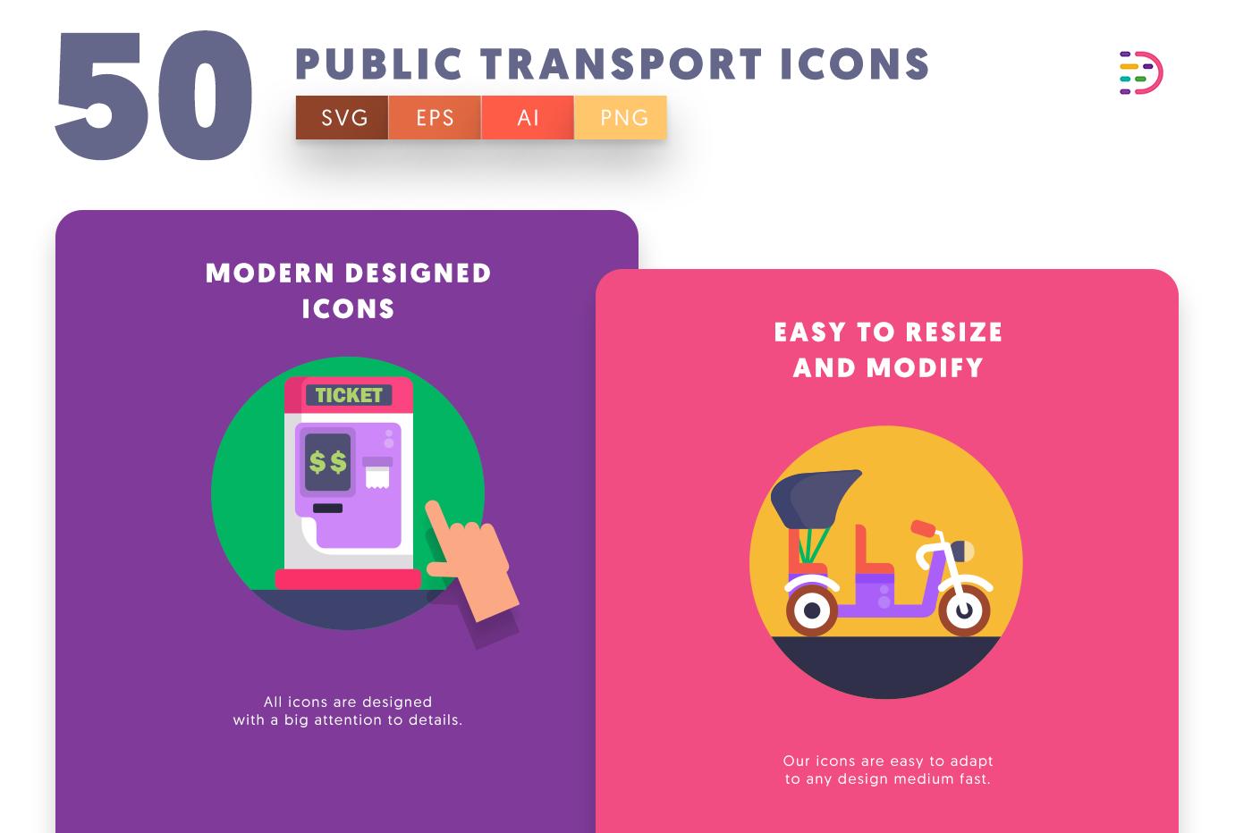 Public Transport icons png/svg/eps