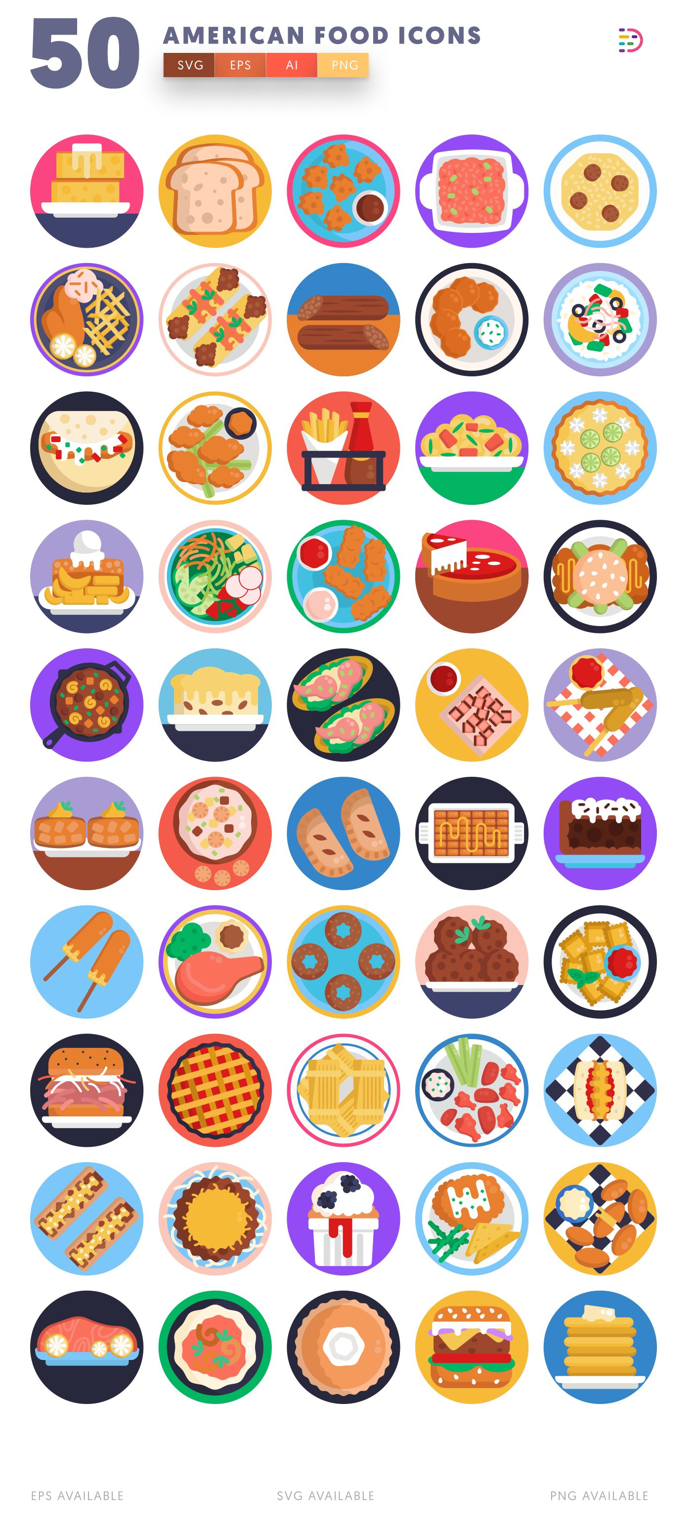 American Food icon pack