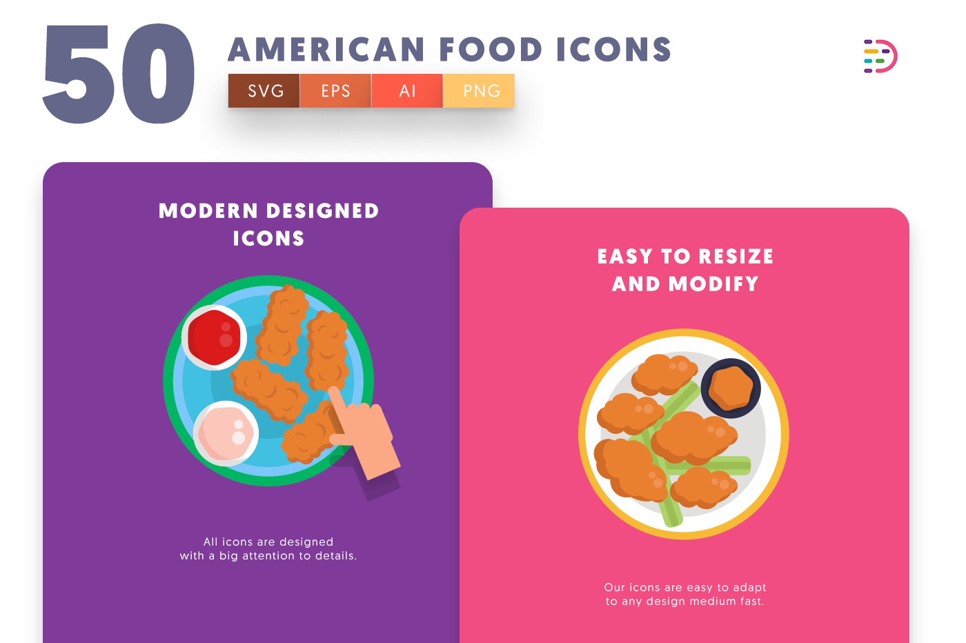 American Food icons png/svg/eps