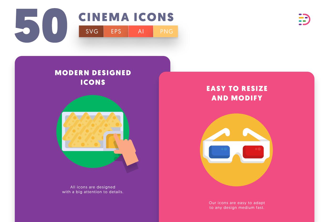Cinema icons png/svg/eps