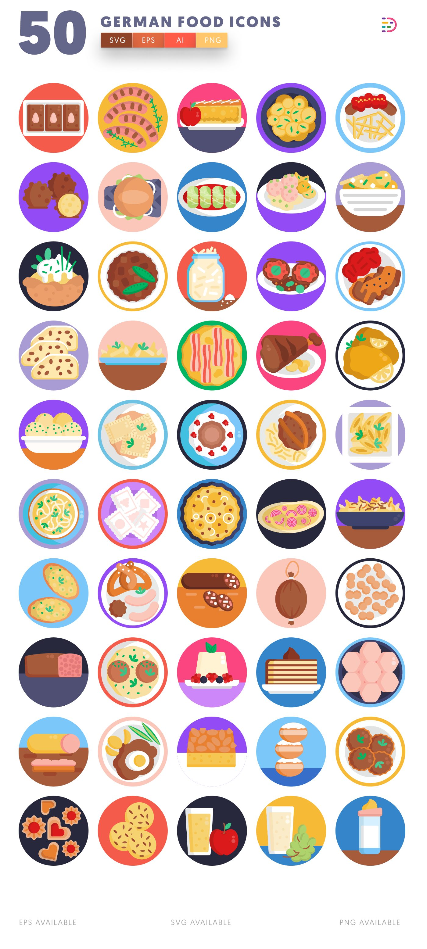 German Food icon pack