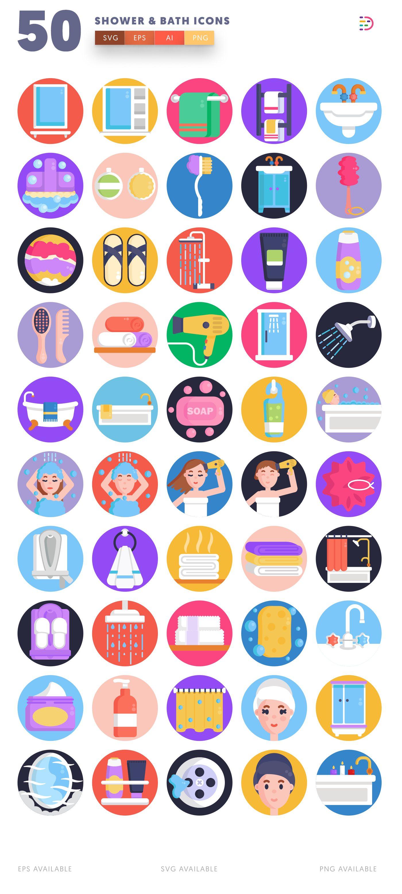 Shower & Bath icon pack