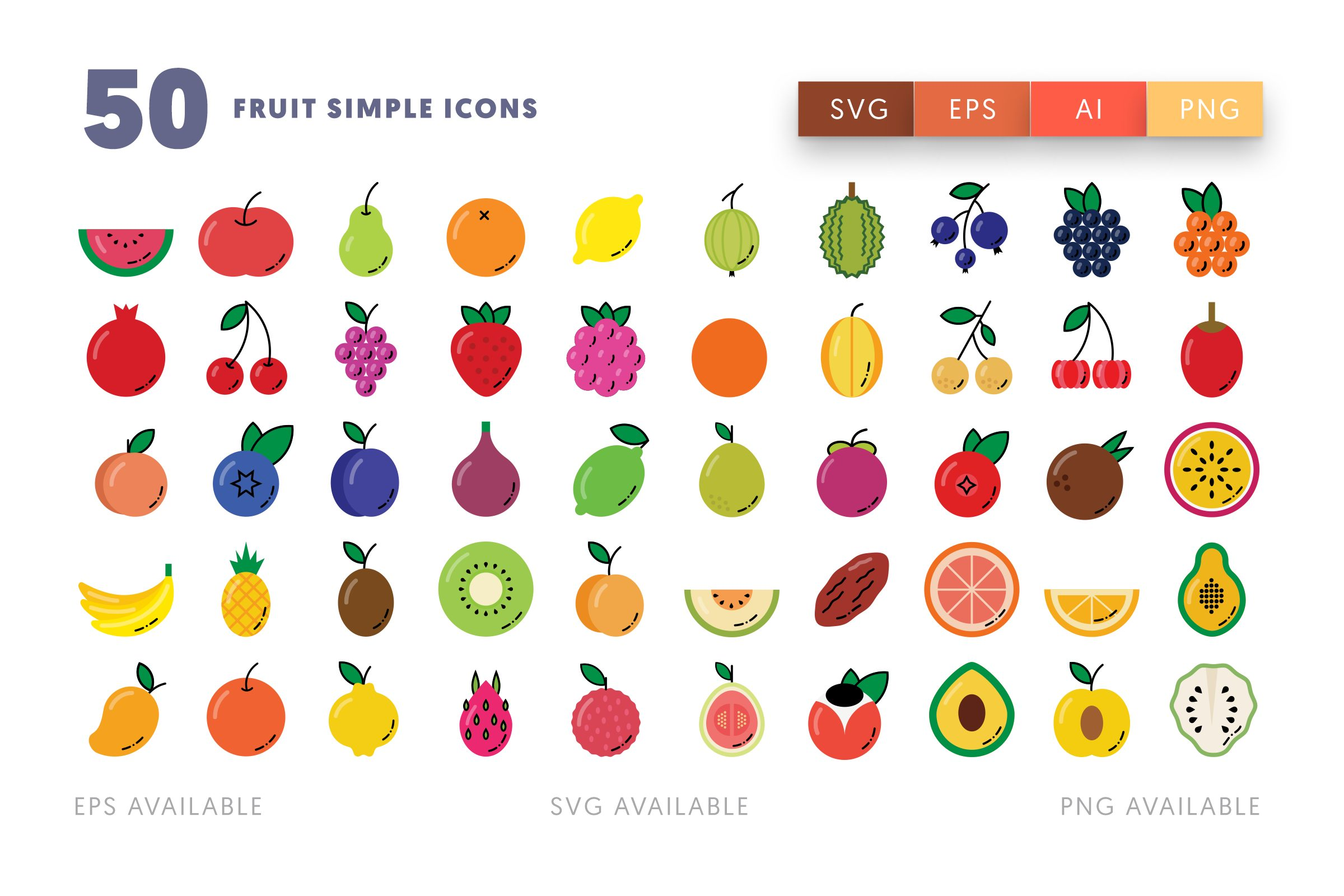 Fruit Simple icons png/svg/eps