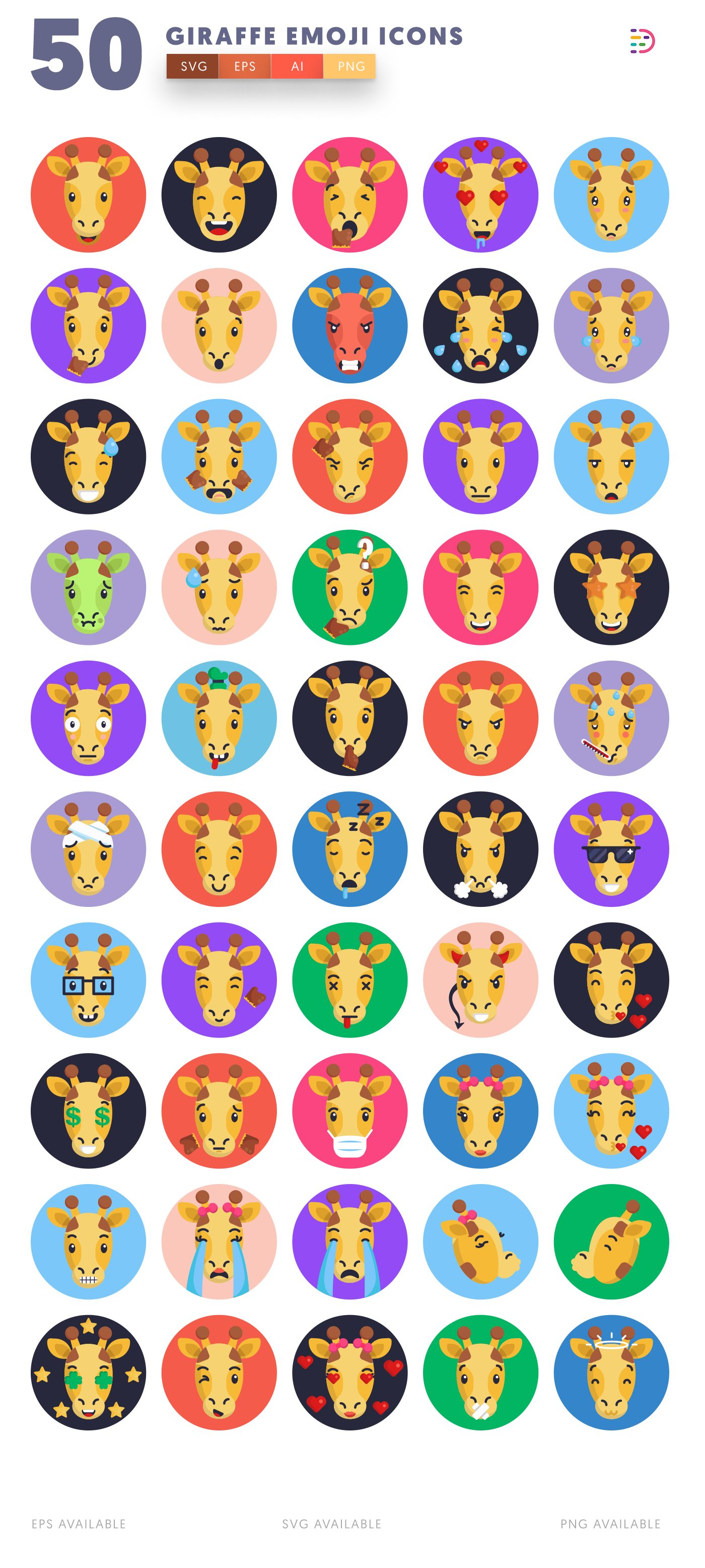 Giraffe Emoji icon pack