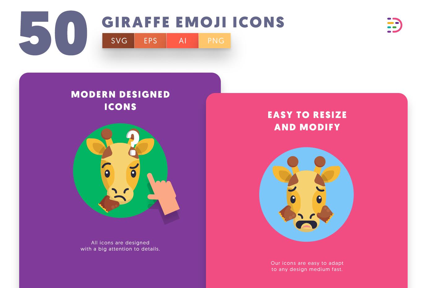 Giraffe Emoji icons png/svg/eps