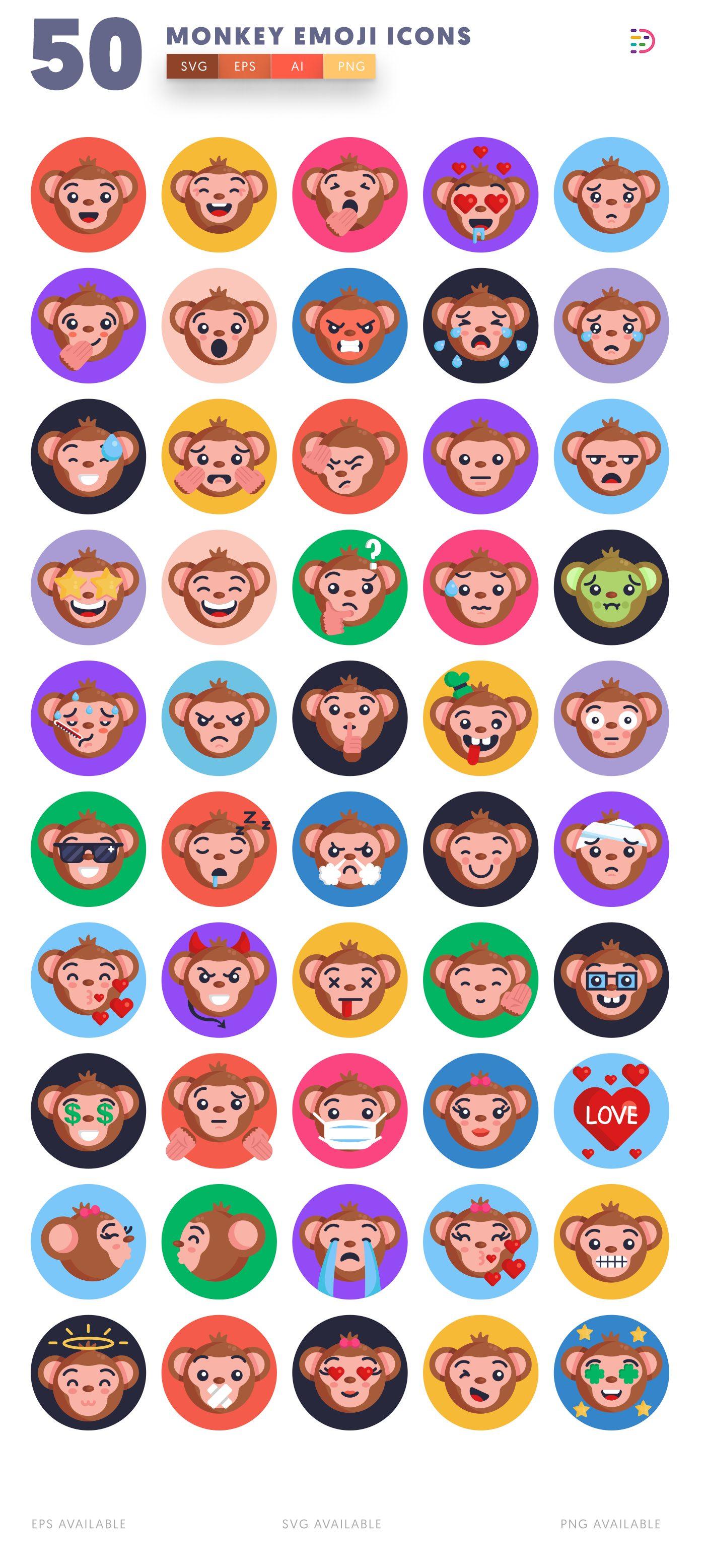 Monkey Emoji icon pack