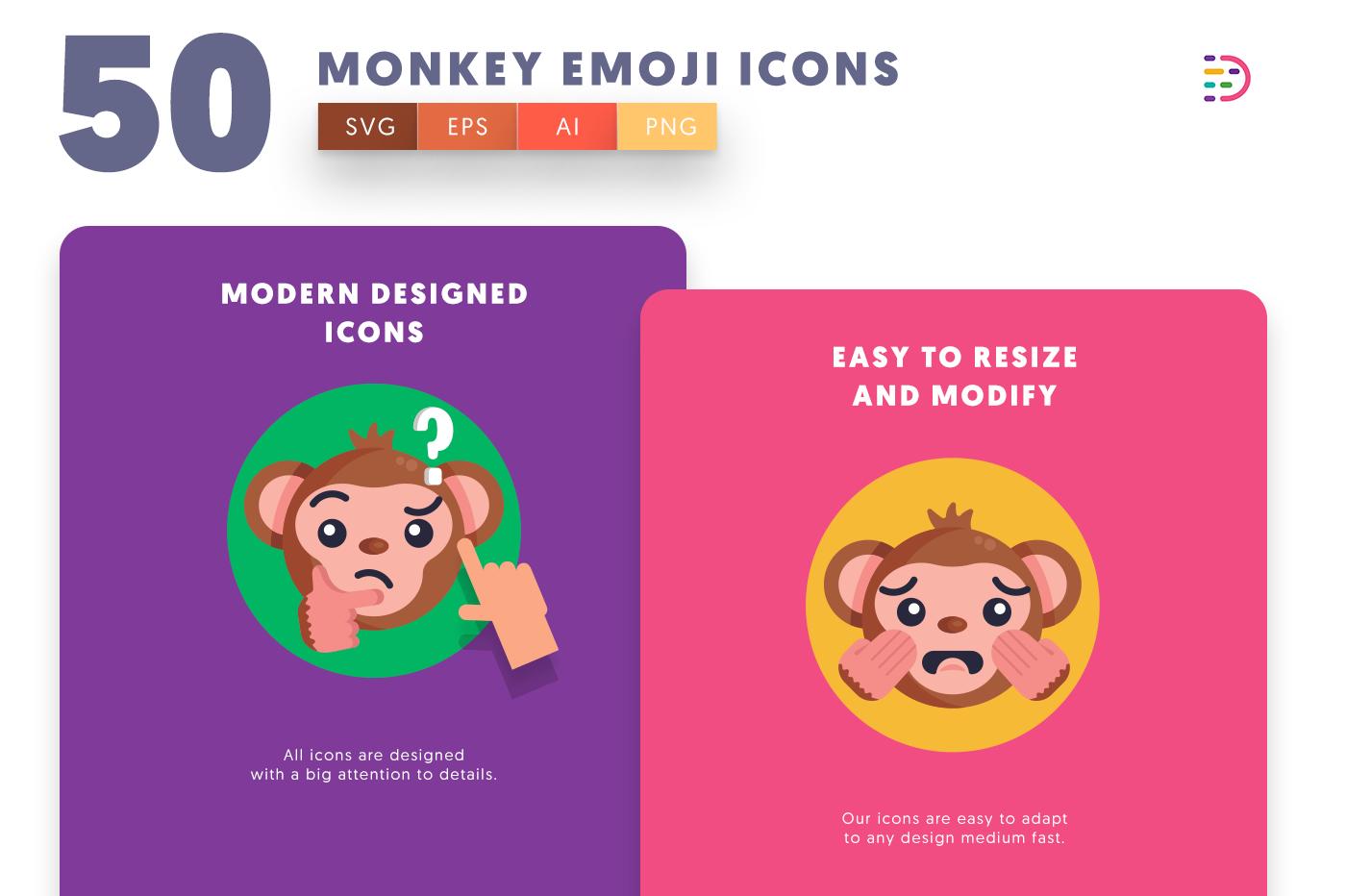 Monkey Emoji icons png/svg/eps