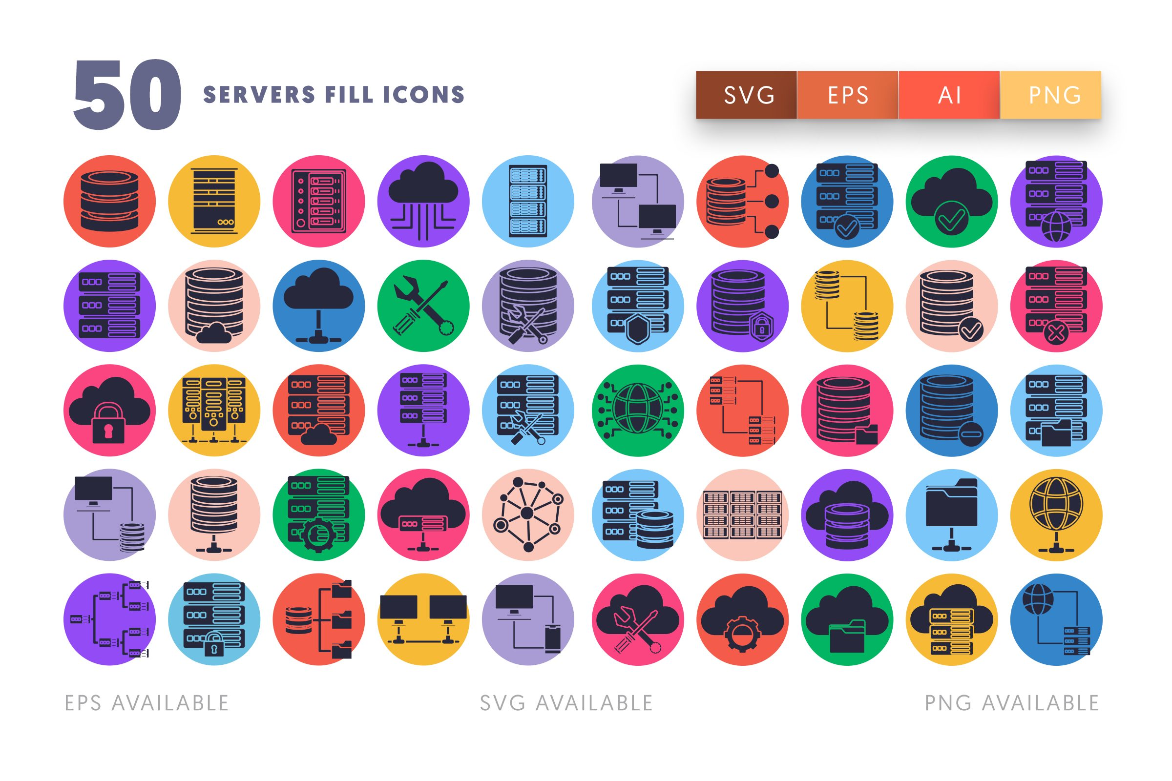 Servers Fill icons png/svg/eps