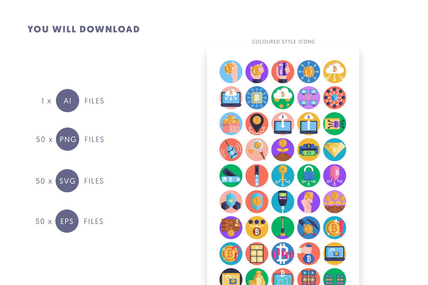 Compatible 50 Bitcoin 2 Icons pack