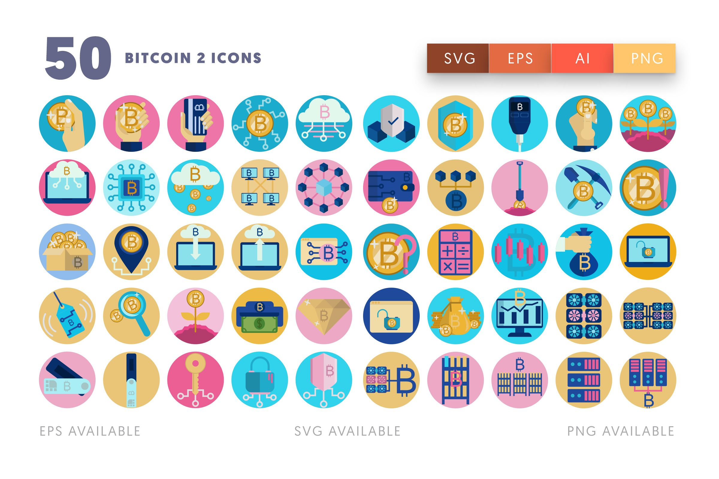 Bitcoin 2 icons png/svg/eps