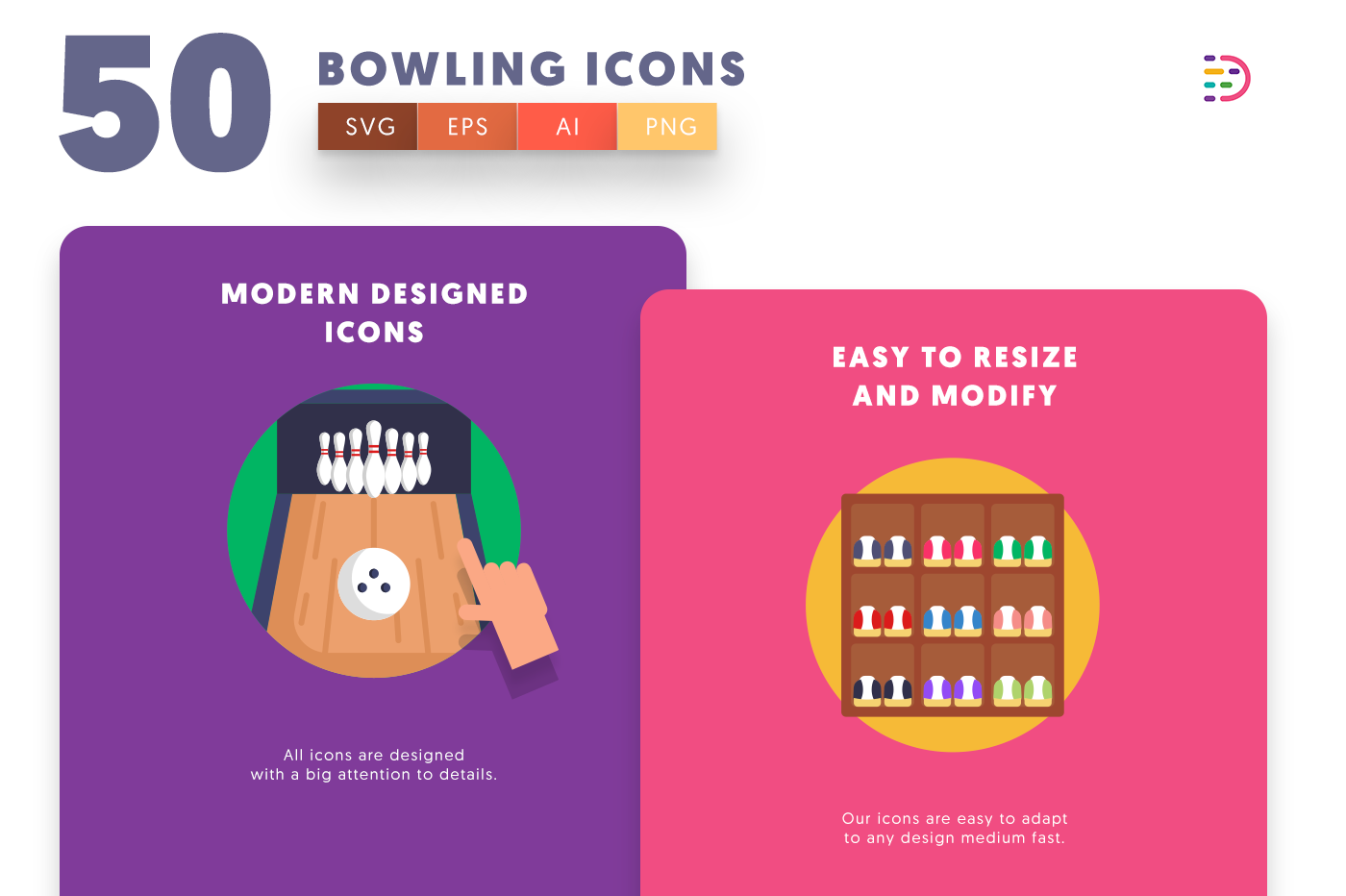 Bowling icons png/svg/eps
