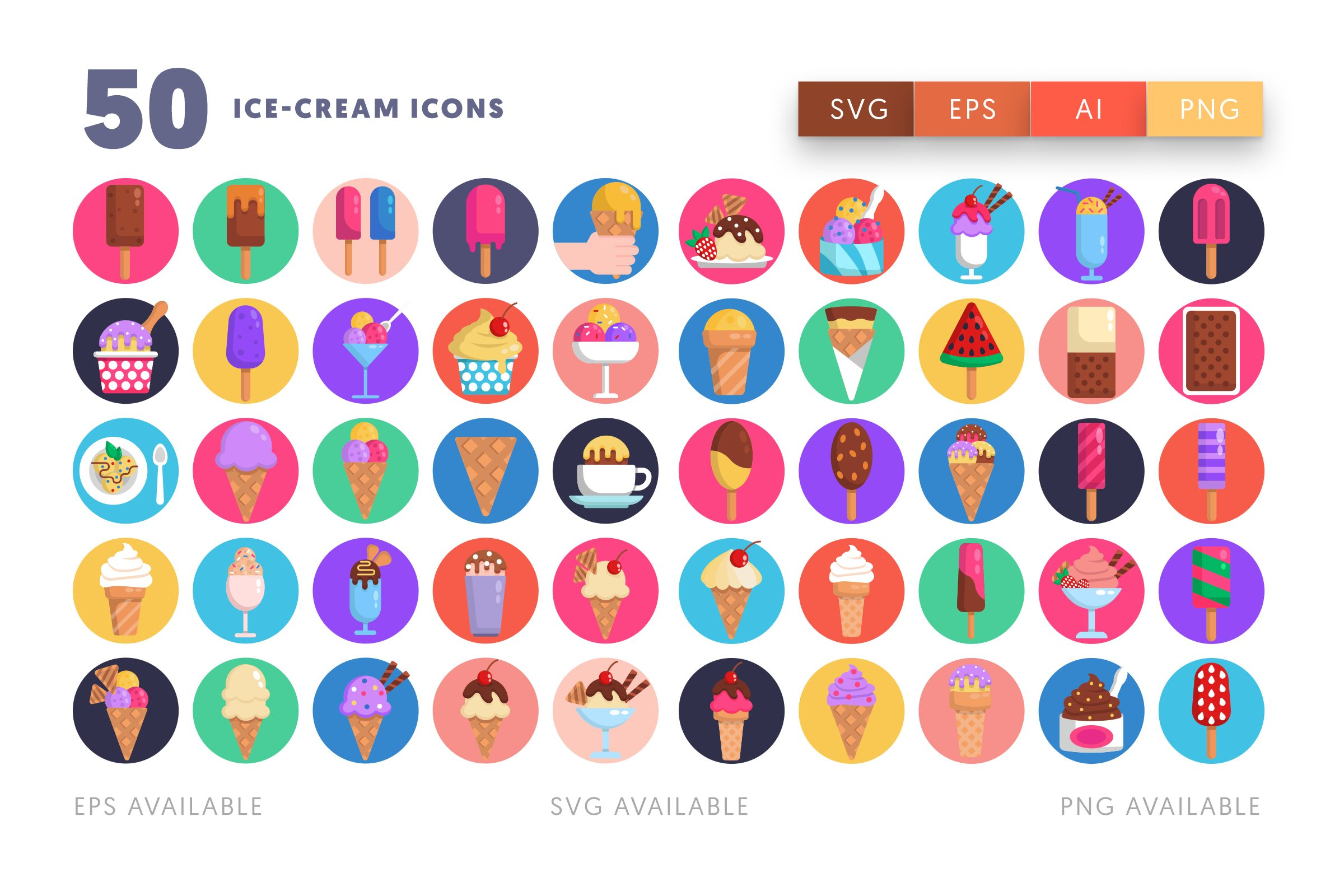 Ice Cream icons png/svg/eps