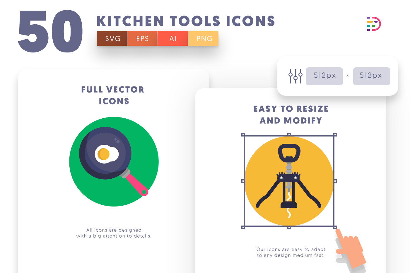 Full vector 50KitchenTools Icons