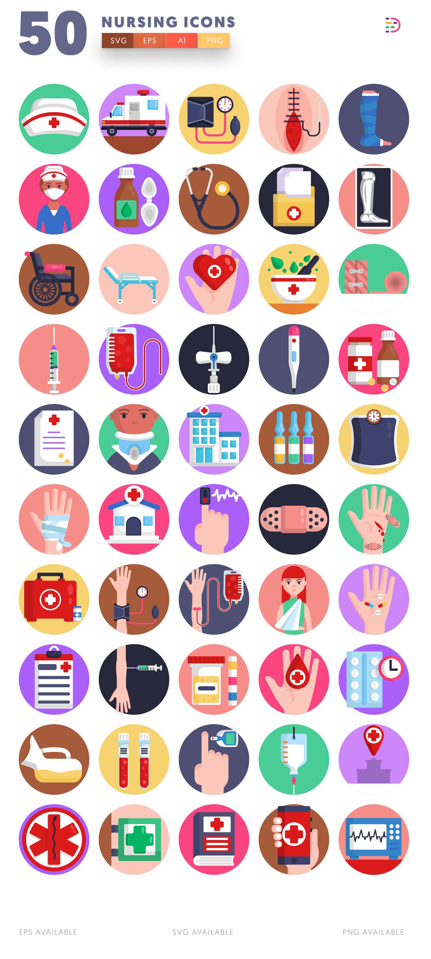 Nursing icon pack