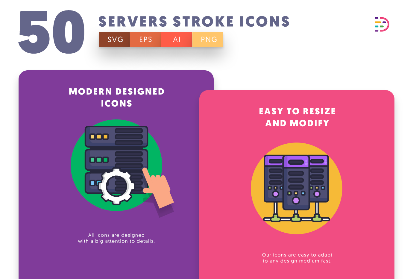 Servers Stroke icons png/svg/eps
