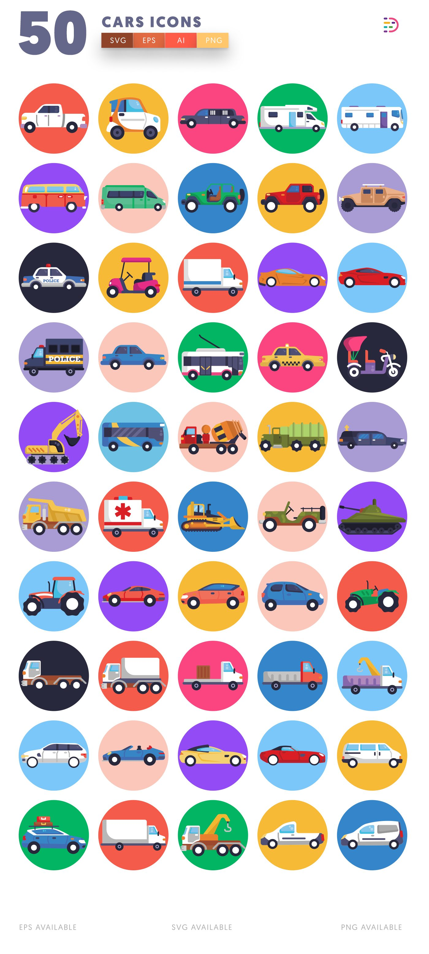 Cars icon pack