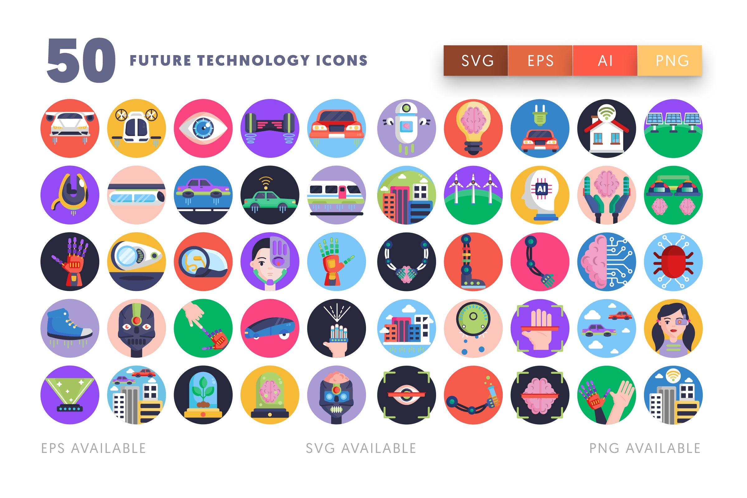 Future Technology icons png/svg/eps