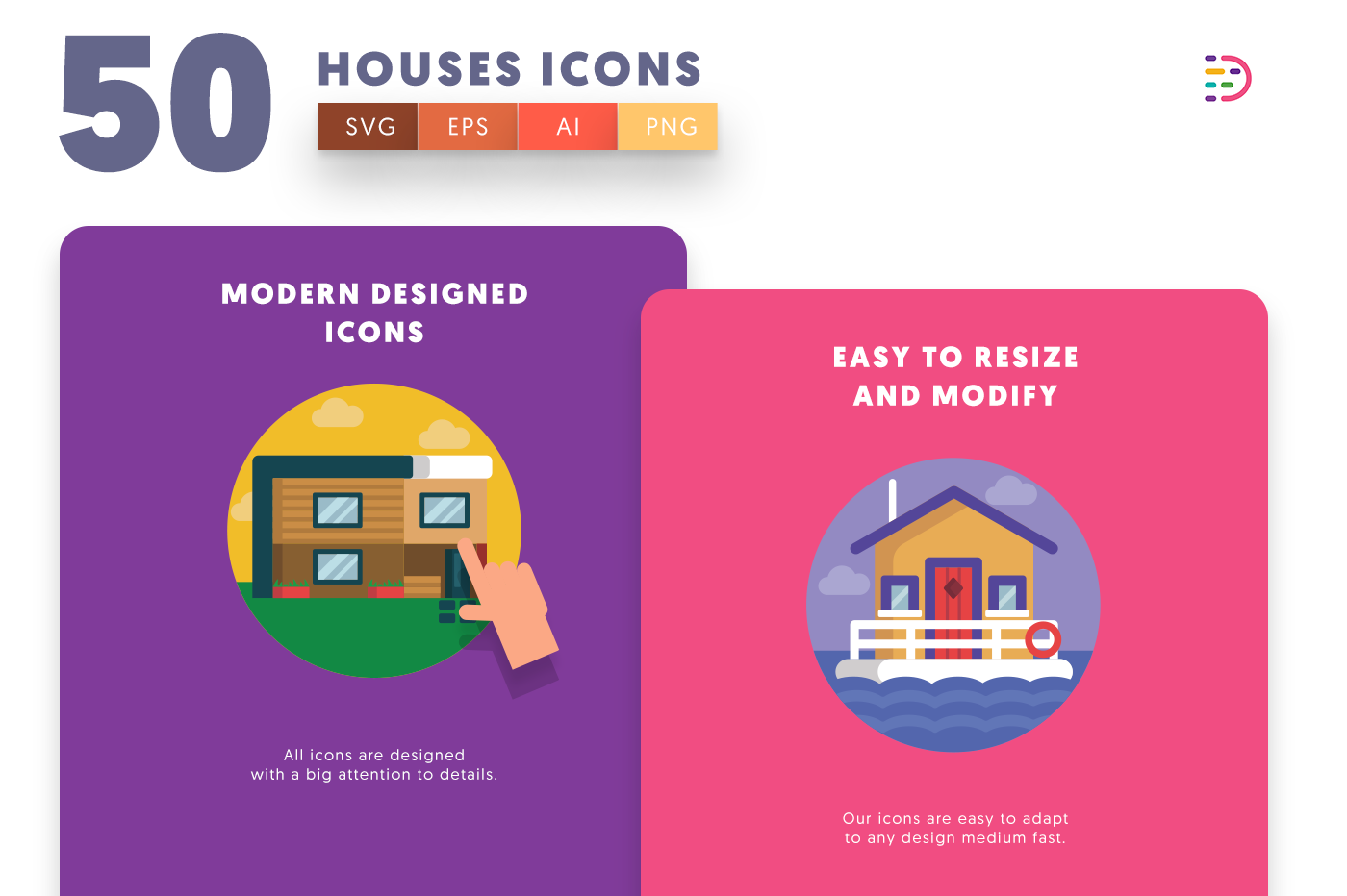Houses icons png/svg/eps