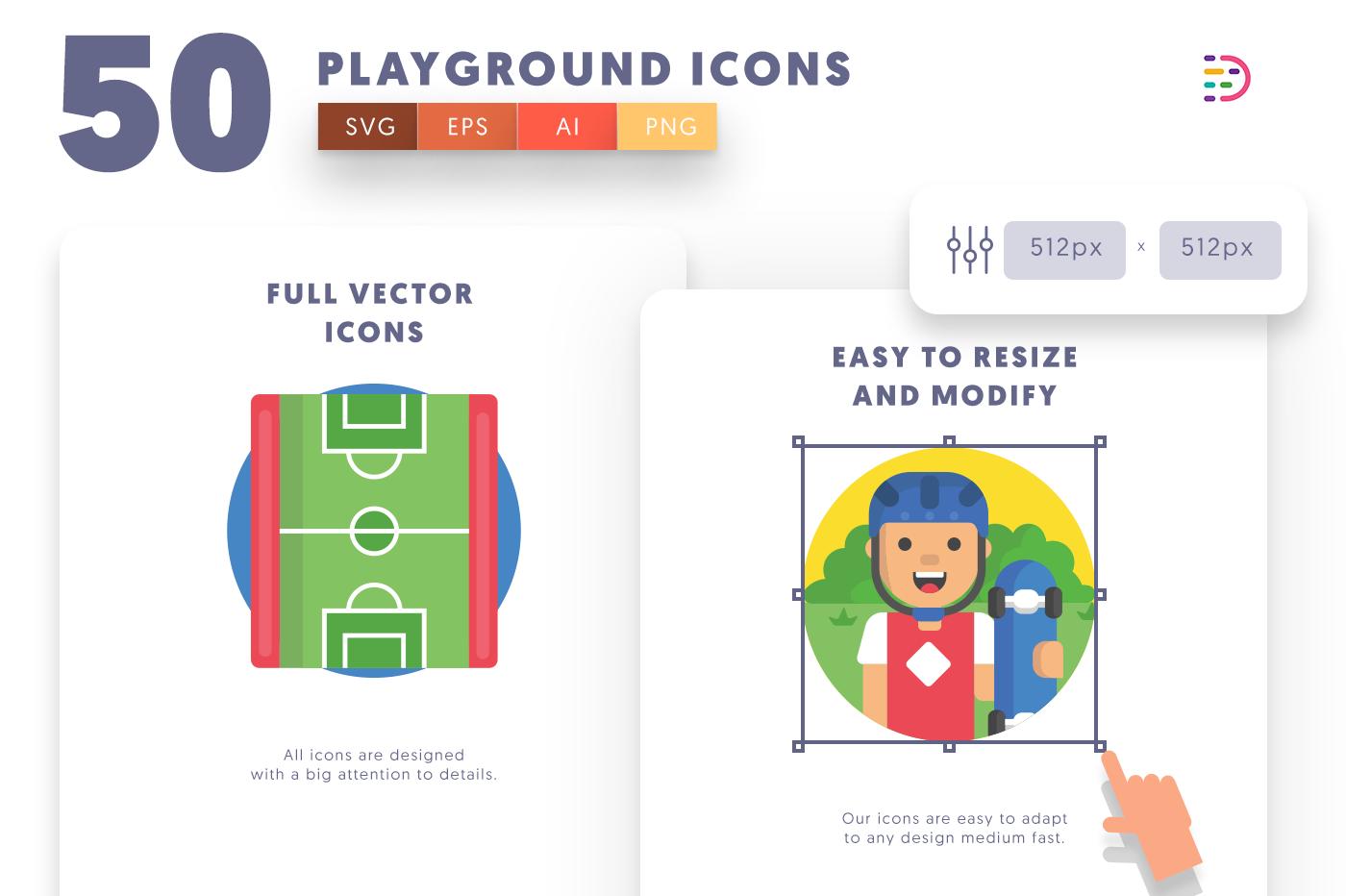 Full vector 50Playground Icons