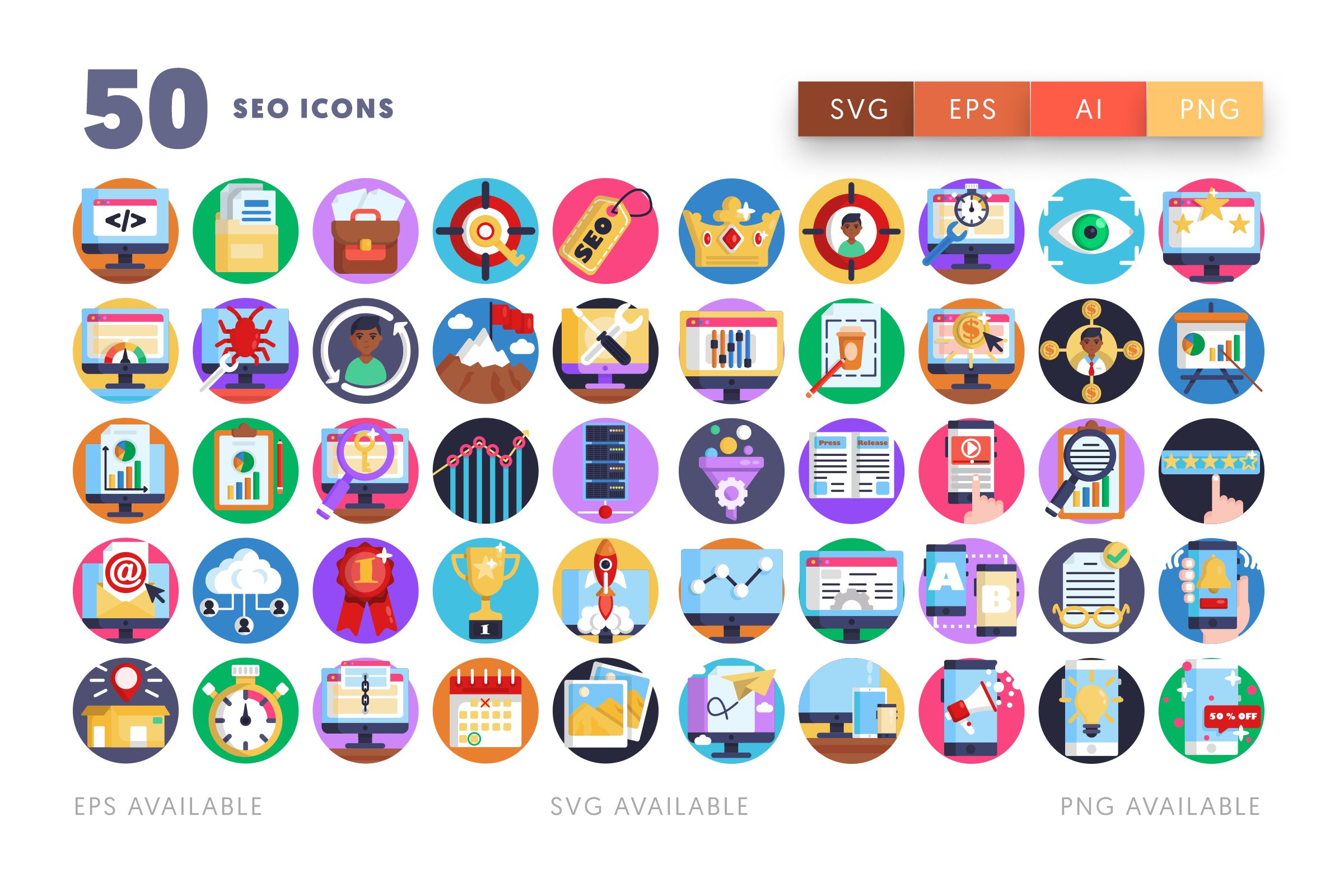 SEO icons png/svg/eps