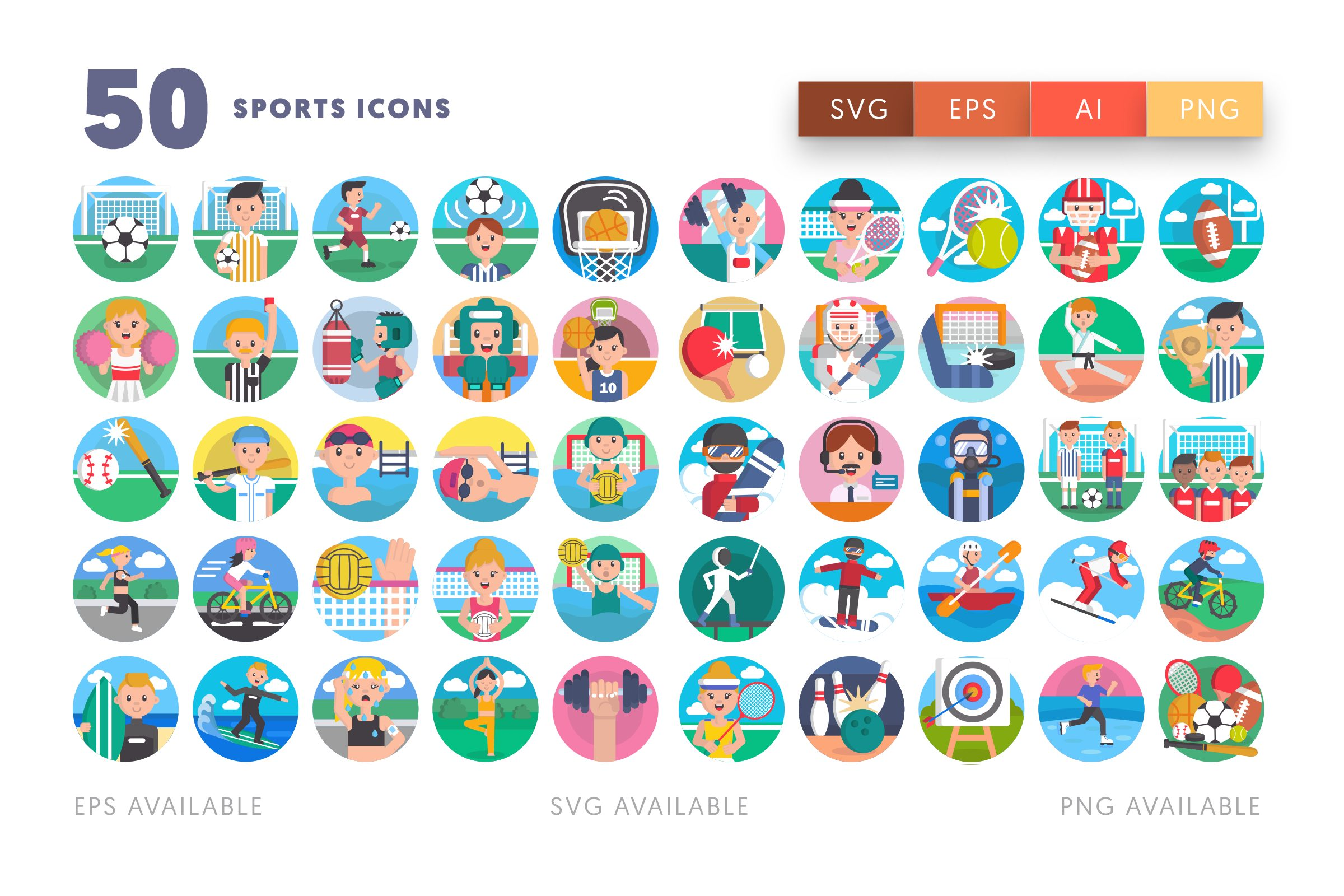 Sports icons png/svg/eps
