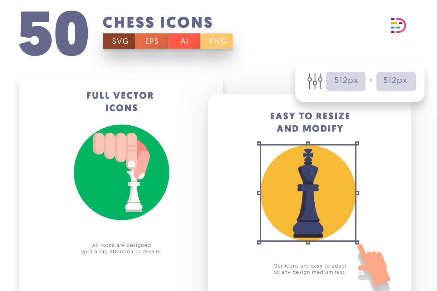 Full vector 50Chess Icons