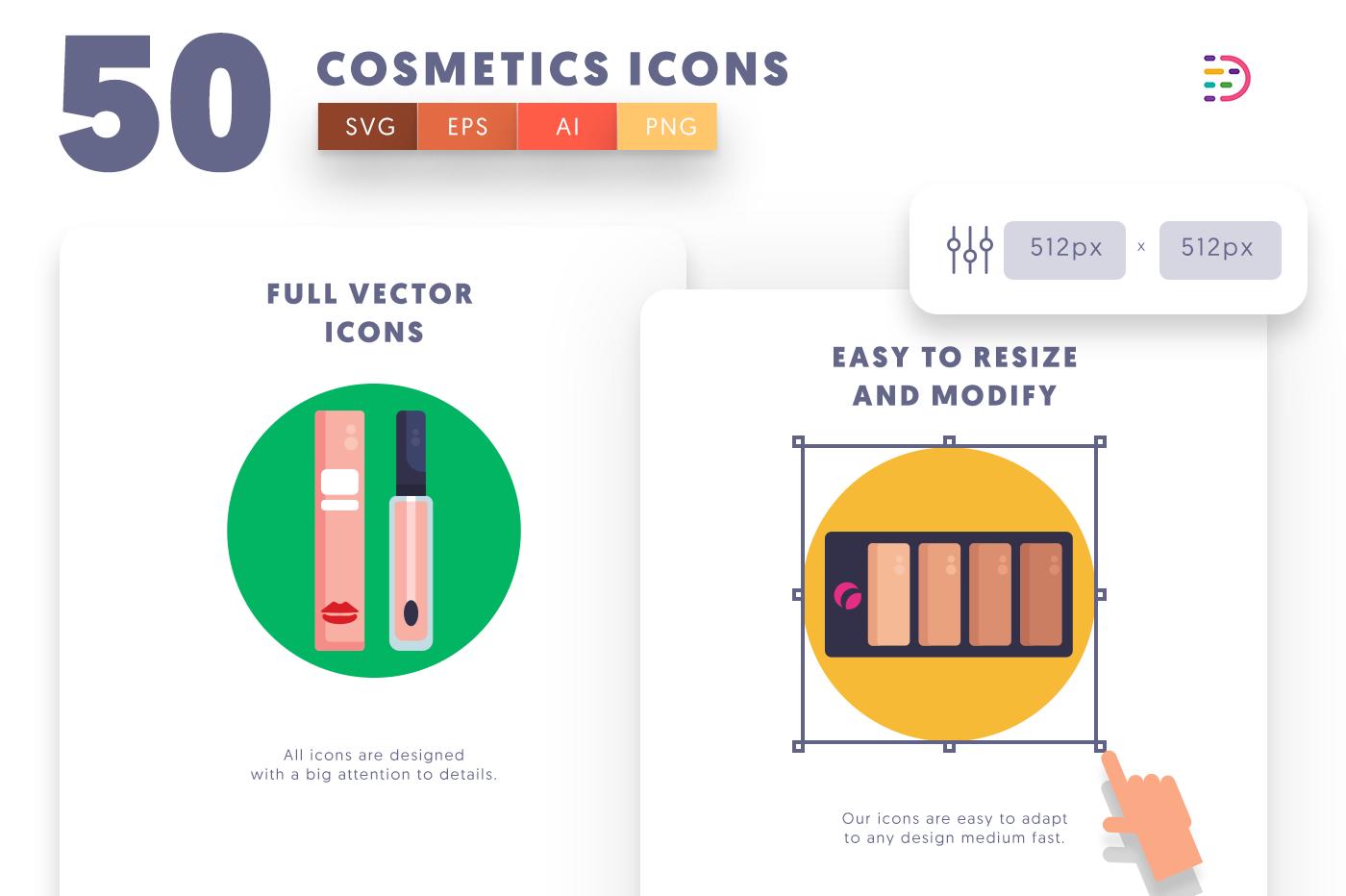 Full vector 50Cosmetics Icons