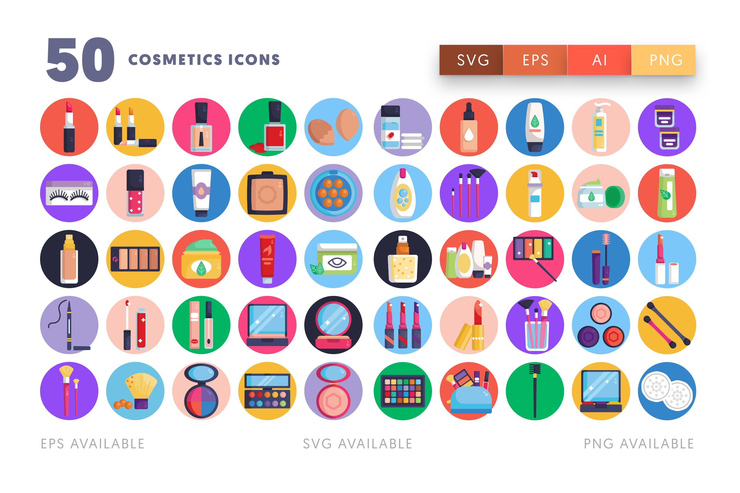 Cosmetics icons png/svg/eps