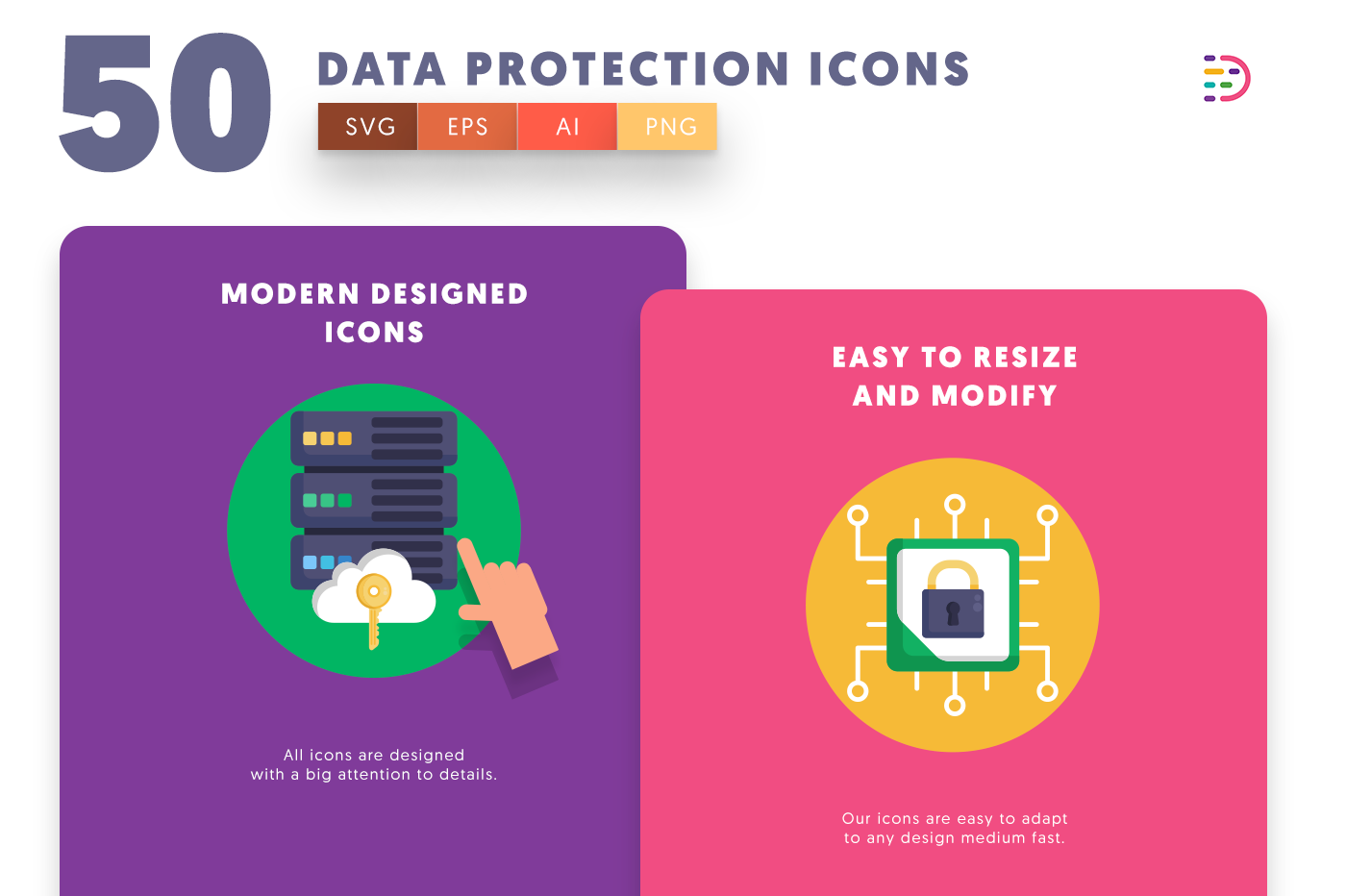 Data Protection icons png/svg/eps