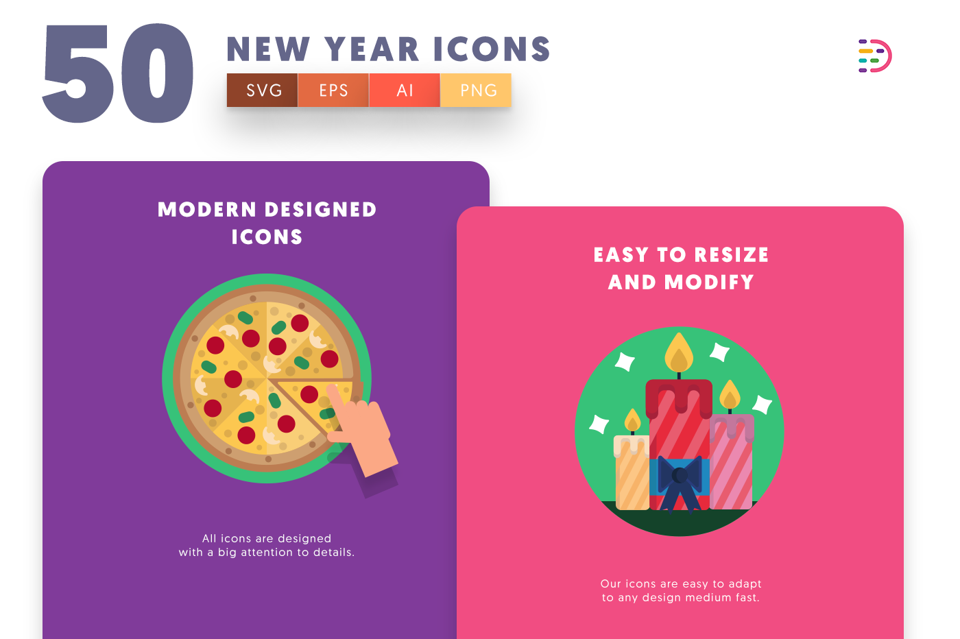 New Year icons png/svg/eps